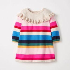 Hanna Andersson    Ruffle Striped Sweater Dress